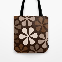 Abstract Flowers Browns & Creams Tote Bag
