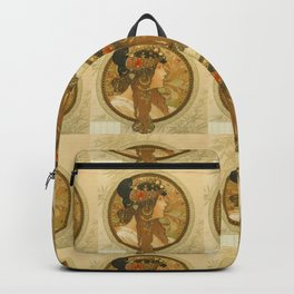 "Alphonse Mucha ""Byzantine Head: The Brunette"" Backpack"