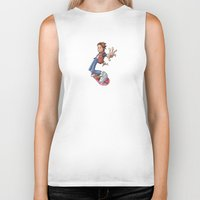 marty mcfly Biker Tanks featuring Marty by Havard Glenne