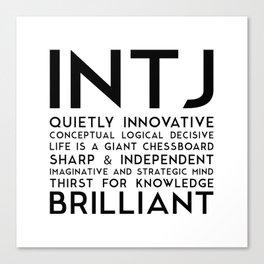 INTJ Canvas Print