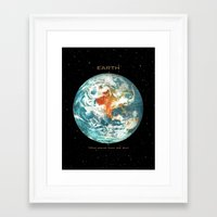 earth Framed Art Prints featuring Earth by Terry Fan