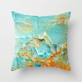 Onyx - blue and orange Throw Pillow