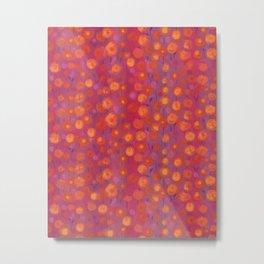 Candy Field, Pink & Orange Metal Print