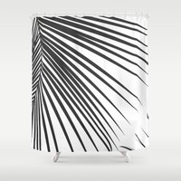 palm Shower Curtains featuring Palm by The Old Art Studio