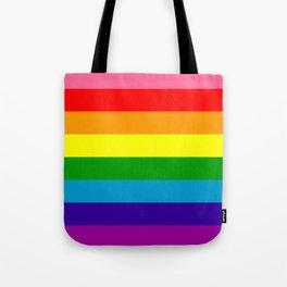 Rainbow Flag (Original Gay Pride Flag Colors) Tote Bag