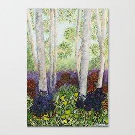 Birch Trees in Heaven Canvas Print