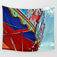 carnival Wall Tapestries featuring Carnival by M. Gold Photography