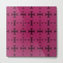 Pink Yarrow Abstract Metal Print