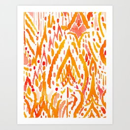 WARRIOR FIRE TRIBAL Art Print