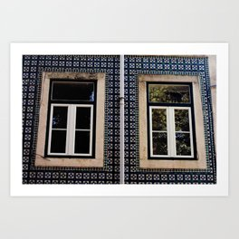 Lisbon Windows Art Print
