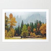 yosemite Art Prints featuring Yosemite by Warren Silveira + Stay Rustic
