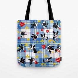 Mirabelle the boston Blue tartan Tote Bag