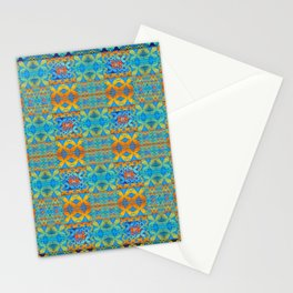 Glowing African Inspired Geometric Print Stationery Cards