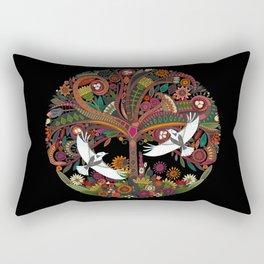 tree of life black Rectangular Pillow