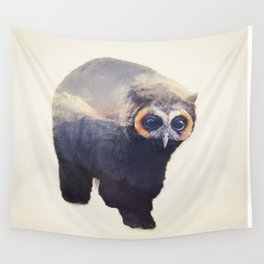 Owlbear in Mountains Wall Tapestry