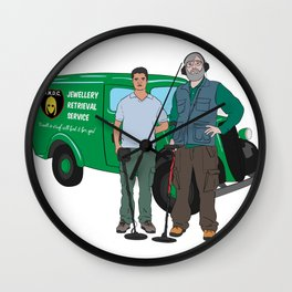 Russell & Hugh Jewellery Retrieval Service - DMDC - Detectorists Wall Clock
