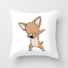 Funny Dabbing Chihuahua Dog Dab Dance Throw Pillow