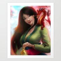 mulan Art Prints featuring Mulan by ChrySsV
