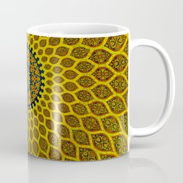 Yellow Arabic Mosaic Coffee Mug