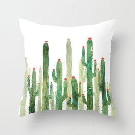 Cactus Four Throw Pillow