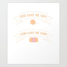 Asked for Happiness God Gave me Crochet T-Shirt Art Print