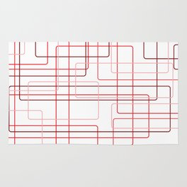 Red Cube Pattern Rug