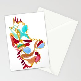 Stardust In Red Stationery Cards