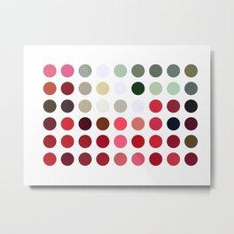 Mixed color Poinsettias 3 Dots Metal Print
