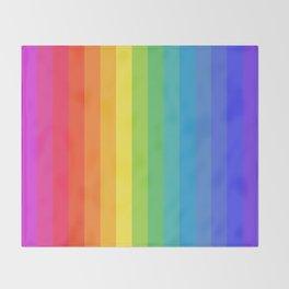 Solid Rainbow Throw Blanket