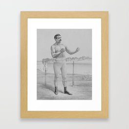 John L. Sullivan - Bare-Knuckle Boxer Framed Art Print