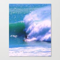 surfer Canvas Prints featuring Surfer by suzyoconnor