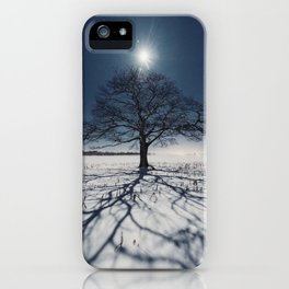 Winter Shadows iPhone Case