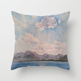 Lake Tahoe After a Summer Storm Throw Pillow