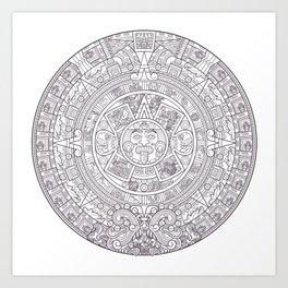 Sun Stone Art Print