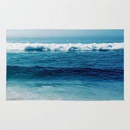 aqua foamy sea Rug