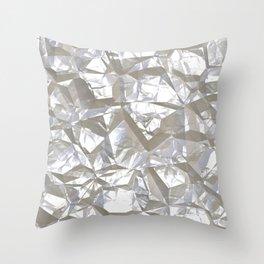 Cool Silver Aluminium Foil Texture Throw Pillow