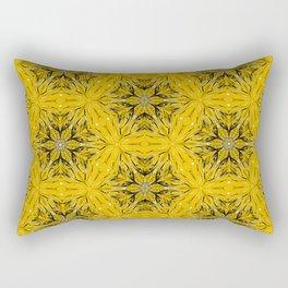 Black and yellow star ornament Rectangular Pillow