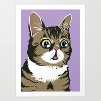 lil bub Art Prints featuring Lil Bub by Noelle Posadas
