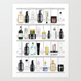 Oh My Cream Top shelf! Art Print