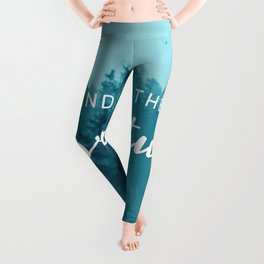 And So The Adventure Begins - Turquoise Forest Leggings