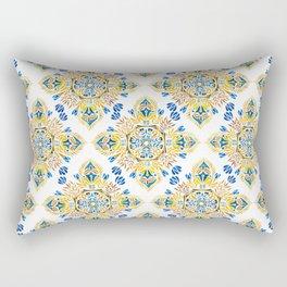 Wheat field with cornflower - mandala pattern Rectangular Pillow