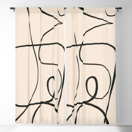 Abstract line art 51 Blackout Curtain