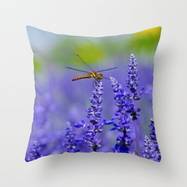 Dragonfly Lavender Throw Pillow