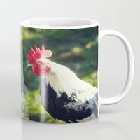 rooster Mugs featuring Rooster by KimberosePhotography