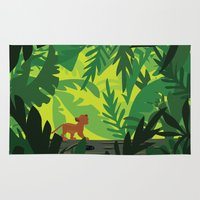 simba Area & Throw Rugs featuring Lion King - Simba Pattern by Cina Catteau