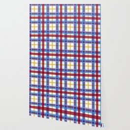 Marigold Plaid Wallpaper