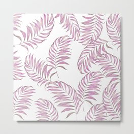 Pink Leaves Metal Print