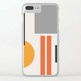 Mid Century 05 Clear iPhone Case
