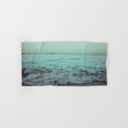 Crash into Me - Aqua Vintage Beach Edition Hand & Bath Towel