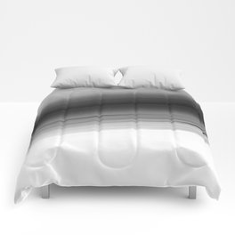 Gray White Smooth Ombre Comforters